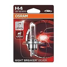 OSRAM 1 H4 B 55/60W 12V, Night Breaker Silver, Blister (1 lámpara)