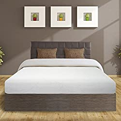 "Best Price Mattress 8"" Air Flow Memory Foam Mattress, Twin, White"