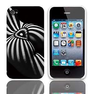 WQQ Caso duro del diseño de la sombra con el paquete de 3 protectores de pantalla para iPhone 4/4S