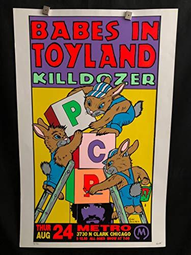 Babes In Toyland, Killdozer Chicago Metro 1995 Concert Poster, RARE, Signed/Numbered, Artist Proof, Frank Kozik, Kozik, Grunge, ()