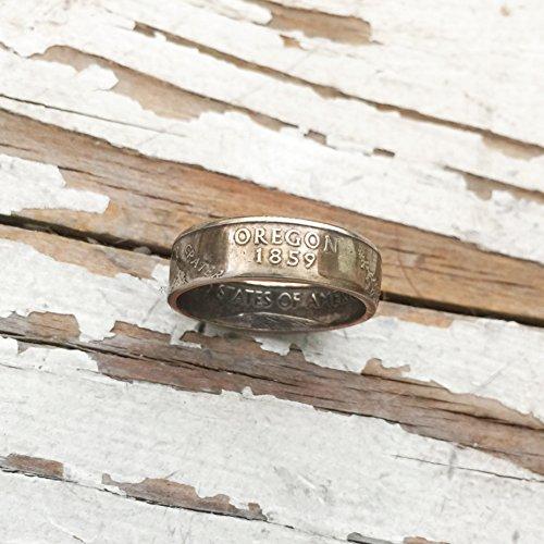 Handmade State Quarter Ring Oregon Size 7 Gift