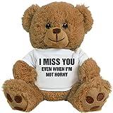 FUNNYSHIRTS.ORG Funny Valentine's Day Gift Bear: 8 Inch Teddy Bear Stuffed Animal