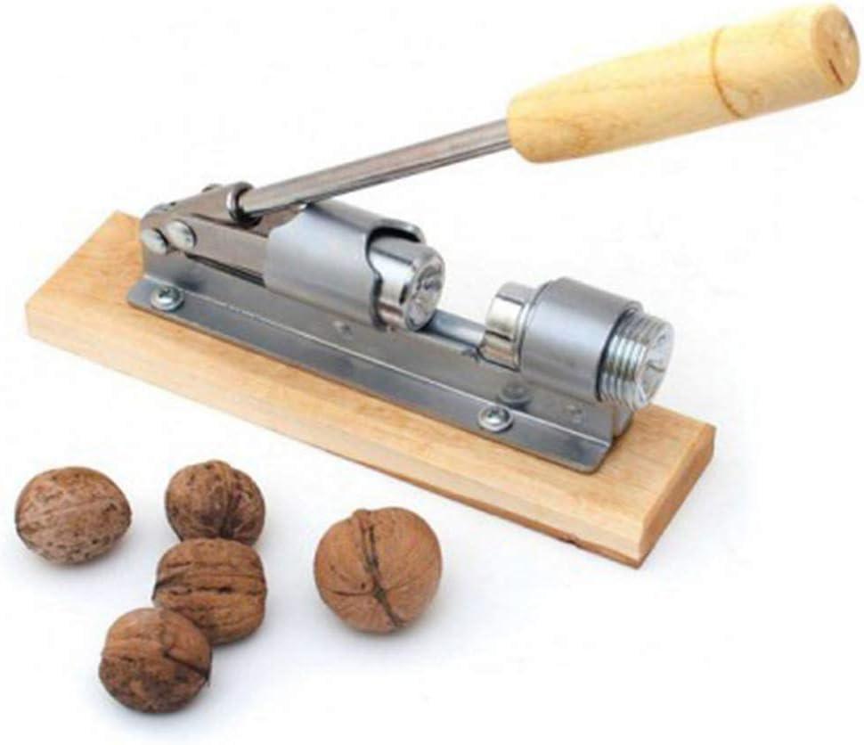 Heavy Duty Nutcracker Pecan Nut Cracker Opener Tool Desktop Wood Handle /& Base