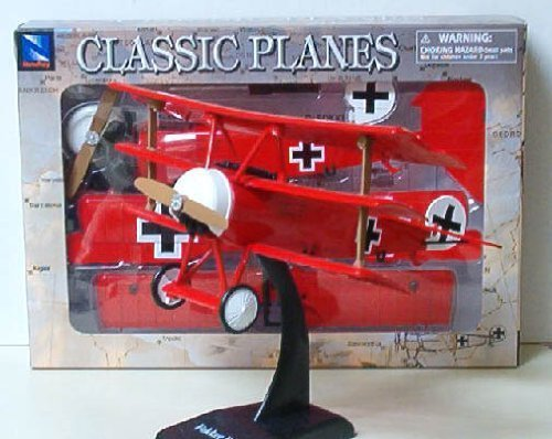 Triplane Baron Red (German Fokker DR.1 Classic Model Kit: The Red Baron German Triplane - 1:32 scale by New Ray)