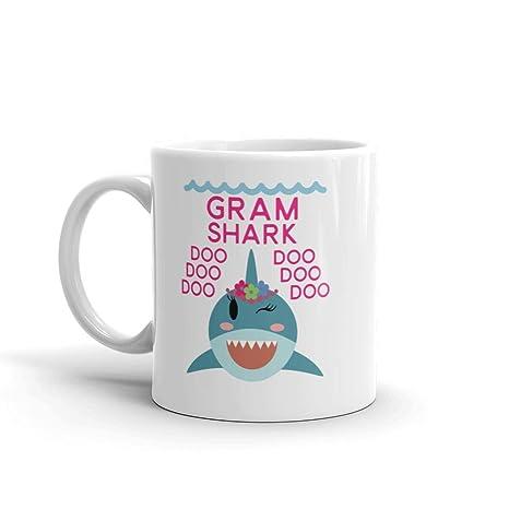 Amazon.com: Taza de café de cerámica con diseño de tiburón ...