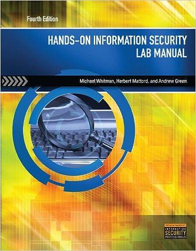 Amazon Com Hands On Information Security Lab Manual Ebook Michael