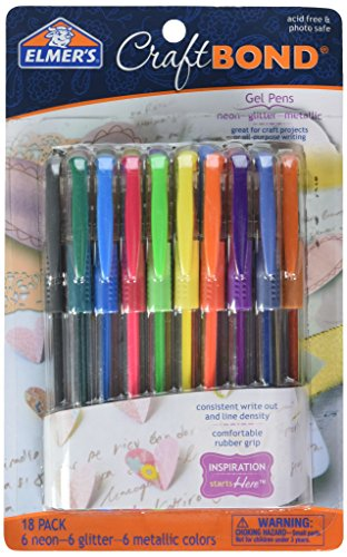 - ELMERS Craft Bond Gel Pens - Pack of 18 (E4026)