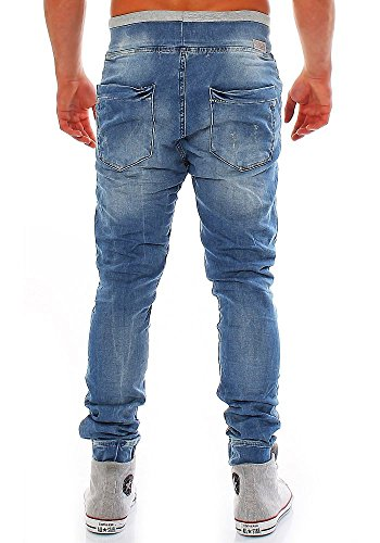 Redbridge Herren Drop Crotch Jogg Jeans M-4025 destroyed XL/32