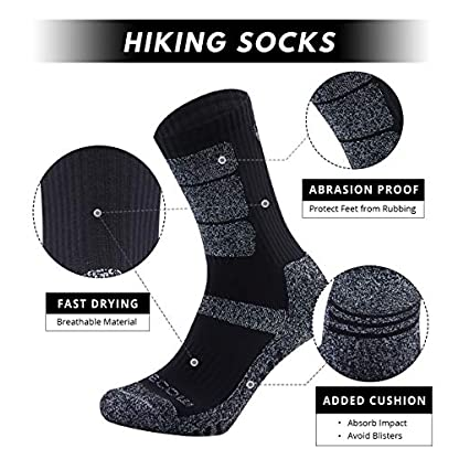 5 Pairs Mens Socks For Hiking Trekking Walking,Breathable Cushion Comfortable Casual Crew Socks 2