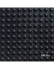 SAIYU rubberen voetjes pads 100 stuks lijm bumper pad silicone bumper bescherming pad (100 stuks, 9 mm x 3 mm, zwart, halve bolvorm)
