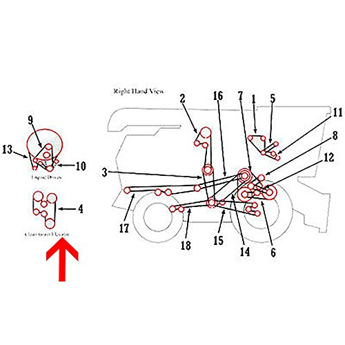 H77766 New Conveyor/Grain Elevator Belt for John Deere Feeder 6600 6620 7700 +