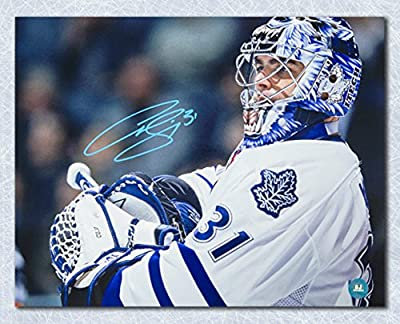 Curtis Joseph Toronto Maple Leafs Autographed CUJO Goalie Close Up 11x14 Photo