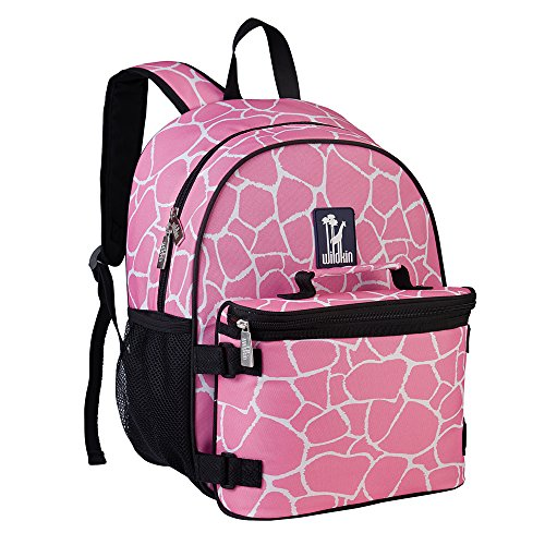 Wildkin Giraffe Bogo Backpack with Lunch Bag, Pink, One Size