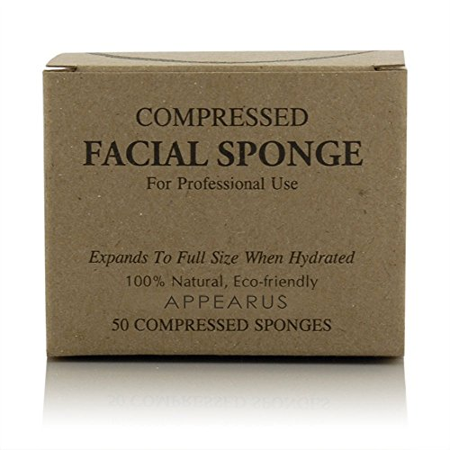 Appearus Compressed Natural Cellulose Facial Sponges (50 Count)