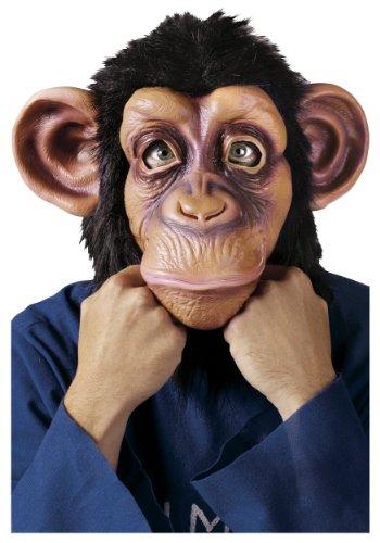[Chimp Mask / Monkey Mask Full Head Latex Mask Halloween Costume; Standard Size; By Fun World] (Monkey Head Costume)