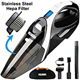 WELIKERA 12V 100W Powerful Handheld Cordless Vacuum Cleaner Black (Small Image)