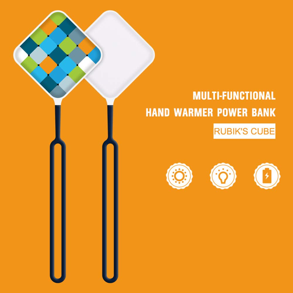 Iusun Cobblestone Shape USB Rechargeable Hand Warmer Portable Square Color Pattern Pocket Electric Heater D