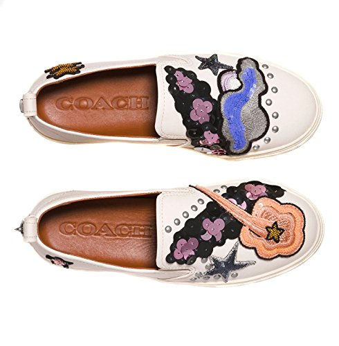 Women's Patches Sequins Chalk Shoes Sneakers and Star Coach with UwSZq66