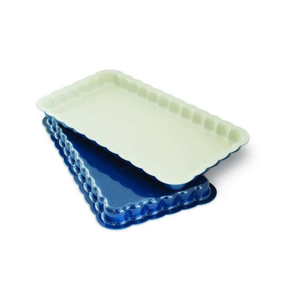 Nordic Ware 31022 Celebrations Stackable Loaf Pan, Set of 2, Navy, White