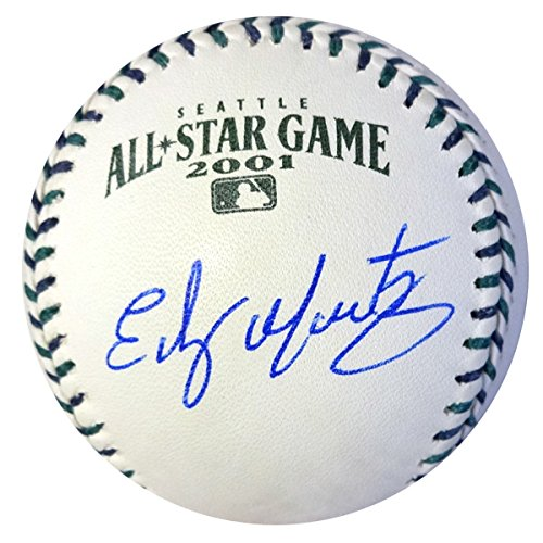 EDGAR MARTINEZ AUTOGRAPHED OFFICIAL 2001 ALL-STAR BASEBALL SEATTLE MARINERS MCS HOLO STOCK #74027