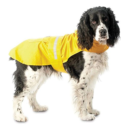PetRageous Seattle Slicker for Pets, Small, Yellow