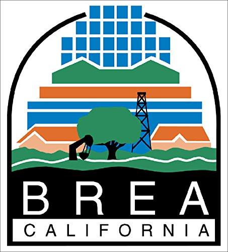 Brea California City Seal Sticker (decal bumper window - Brea Ca