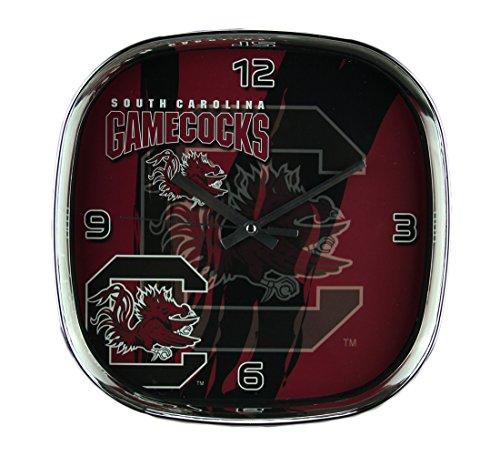- The Memory Company University of South Carolina Gamecocks Glass Face Wall Clock Chrome Finish Frame