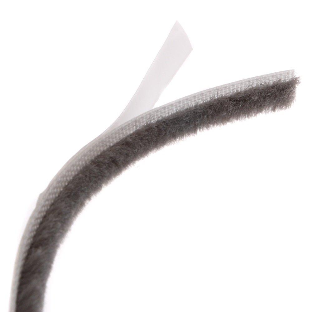 Joint porte et fen/être Marron Brosse adh/ésif 10m x 7mm x 5mm espaces 3-5mm
