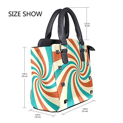 Women's TIZORAX Women's Handbags TIZORAX Tote Leather Bags Leather Spiral Spiral Shoulder rEESwX