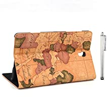 Apexel PU Leather Bible Book Case with Touch Pen for Samsung Galaxy Tab S 8.4, Brown (T700-9-BRN)