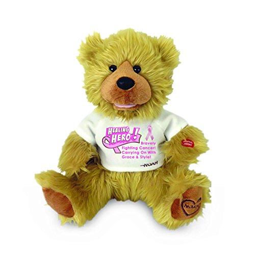 Chantilly Lane Noah Healing Hero Breast Cancer Awareness Bear Plush, 12