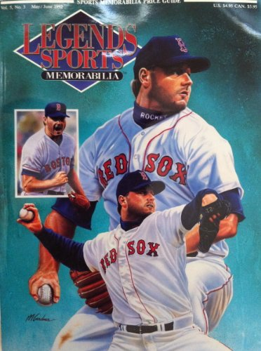LEGENDS SPORTS MEMORABILIA VOL 5 No. 3 ISSUE MAY/JUNE 1992 COVER FEATURES ROGER CLEMENS.