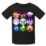 Toypop Steven Universe Kids Cotton Crewneck T Shirts DIY Black