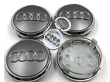 4 Tapas tapacubos Audi 69 mm con Llavero Tributo A3 A4 A5 A6 TT RS4 Q5 Q7 S4 A8 Tapas cengrales para Rueda de aleación: Amazon.es: Coche y moto