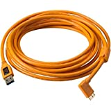Tether Tools 15 ft. TetherPro USB 3.0 Male A to Micro-B Right Angle Cable (Oran