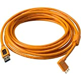 7d mark ii l bracket - Tether Tools TetherPro 15' USB 3.0 Type-A Male to Micro-USB Right-Angle Male Cable, High-Visibility Orange