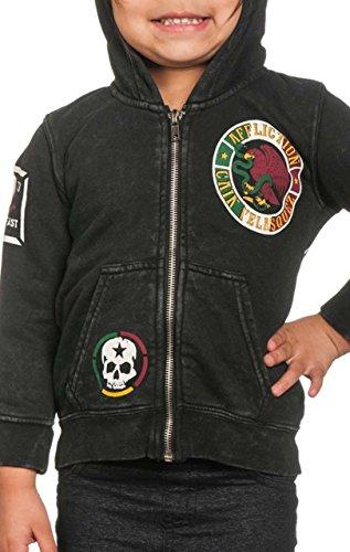 (Affliction Velasquez Boy`s Hooded Jacket L Black)