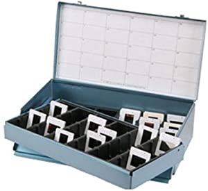 Logan Electric Slide File, Archival Double Decker Metal Storage Box Holds 1500 2x2 Mounted Slides in Groups