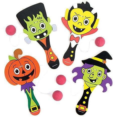 Baker Ross Racchette con Elastico a Tema Halloween per Bambini ... daad7558368e
