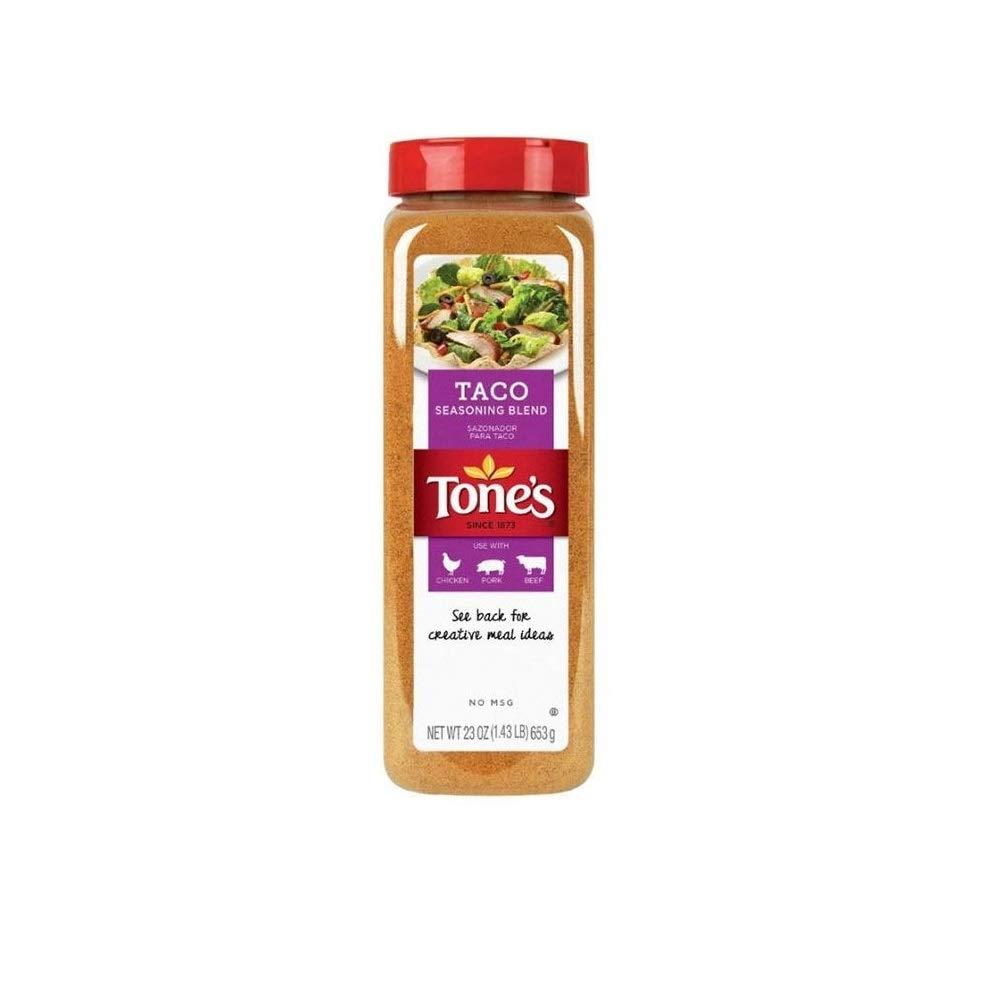 (Pack of 2) Tone's Taco Seasoning 23 oz. (Total 46 oz.)