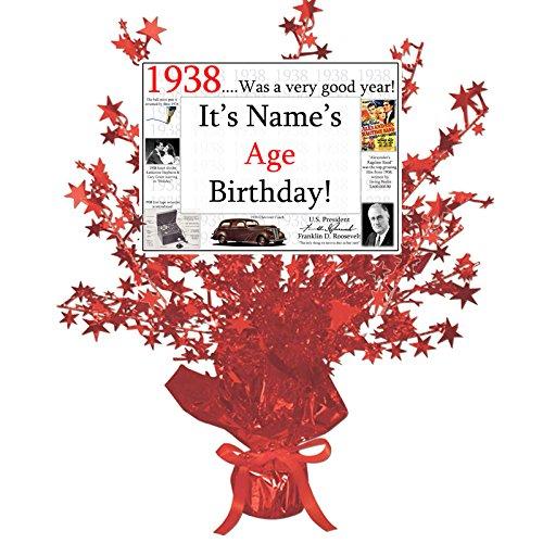 80th Birthday Centerpieces - 7