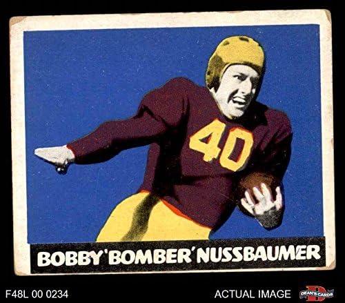 1948 Leaf # 43 Mar Robert Nussbaumer Washington Redskins (Football Card) (Maroon Jersey) Dean'S Cards 3 - Vg Redskins