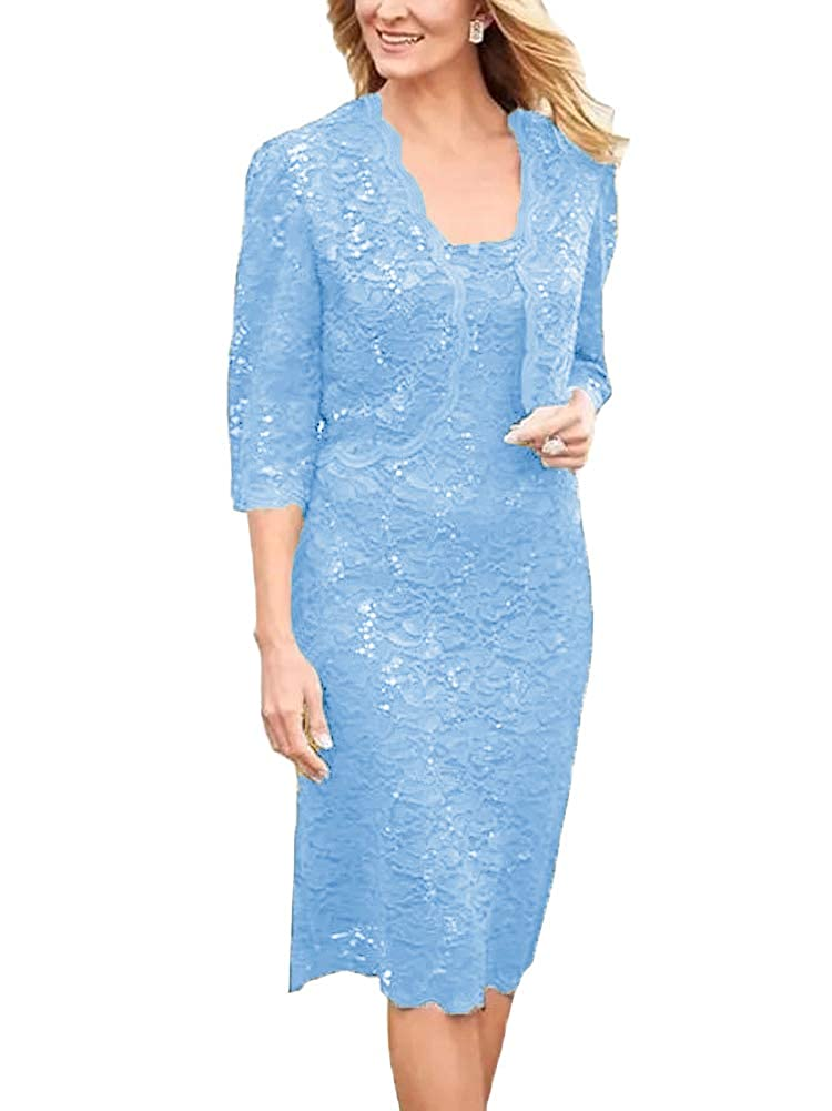7156f965e8f Long Two Piece Mother Dress Evening Prom Gown Plus Size. Two piece set   Jacket and Dress.high quality Sequined lace material.