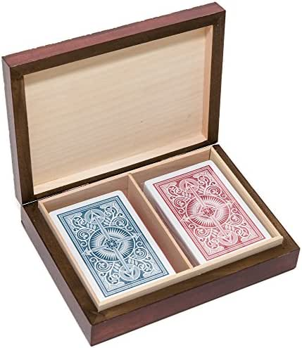 Bello Games New York, Inc. The Knight Card Case & Anthony 100% Plastic Narrow Playing Cards by KEM