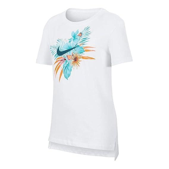 Nike Mädchen G NSW Tee Dptl Foliage Futura Hemd: