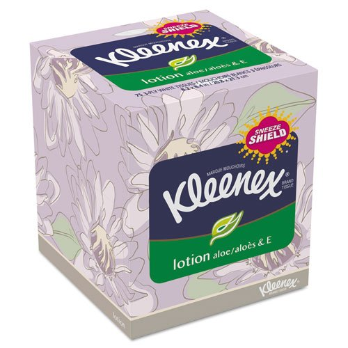 KIMBERLY-CLARK PROFESSIONAL* KLEENEX Lotion Facial Tissue, 2-Ply, 75 Sheets - Includes 27 boxes of 75 each.