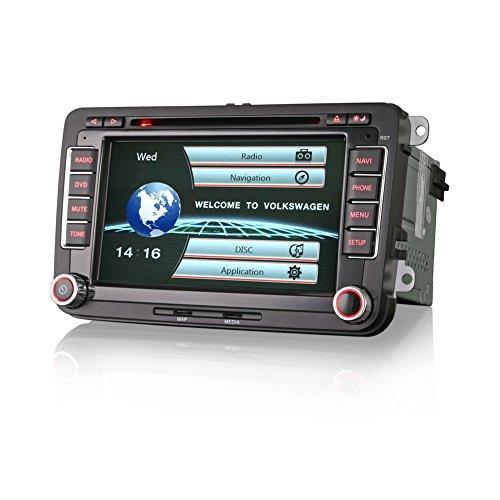 Erisin Car Stereo 7 Inch Head Unit Car Radio DVD Player with Sat Nav Car  Multimedia Support OBD for VW GOLF SEAT PASSAT CC TIGUAN SHARAN JETTA CADDY