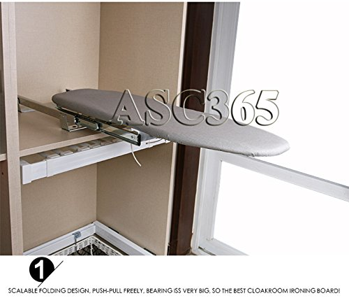 Fold down and Compact Wall-Mounted Ironing Board(Item #251208) by ASC365