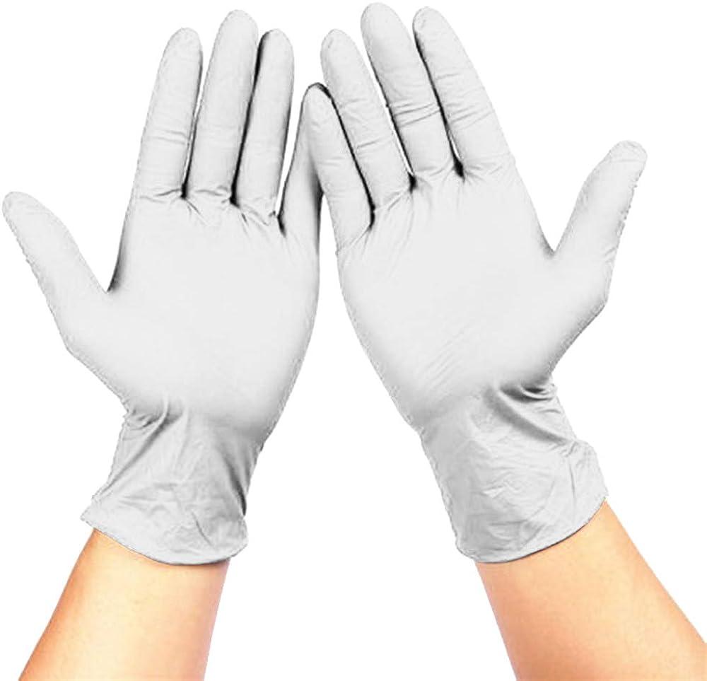 Manooby 100 Pcs Guantes desechables de l/átex de nitrilo sin polvo guantes de trabajo para cocina manicura jard/ín