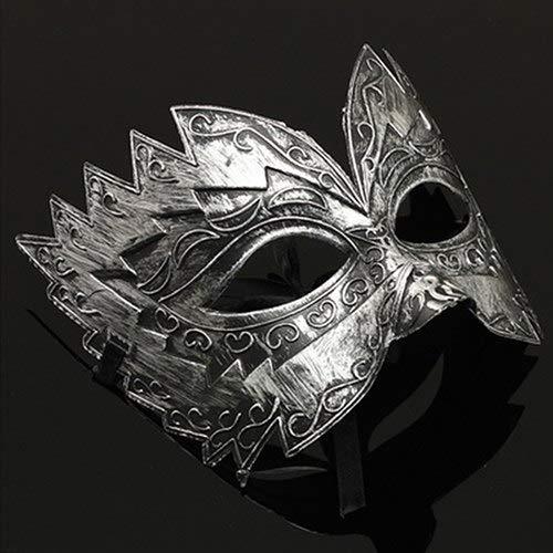 (Gladiator Mask - Halloween Costume Fancy Party Roman Gladiator Masked Ball Masquerade Eye Mask - Masquerade Mask Ball Gladiator Women Party Masks Black Mask Care Face Ball Masque Skull Warr)